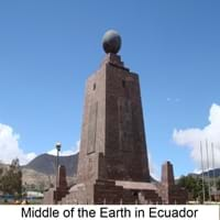 Middle of the Earth in Ecuador