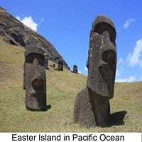 Easter Island in the Polynesian Triangle, Pacific